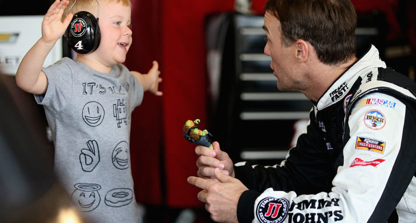 Kevin Harvick and Keelan Harvick
