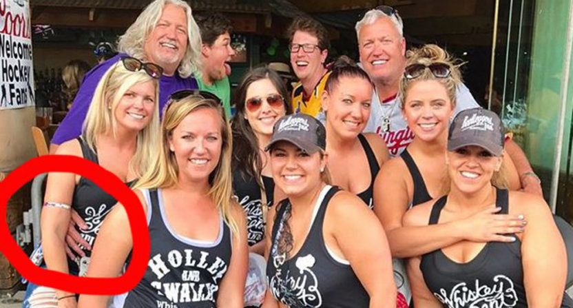 Rob and Rex Ryan with a bachelorette party in Nashville.