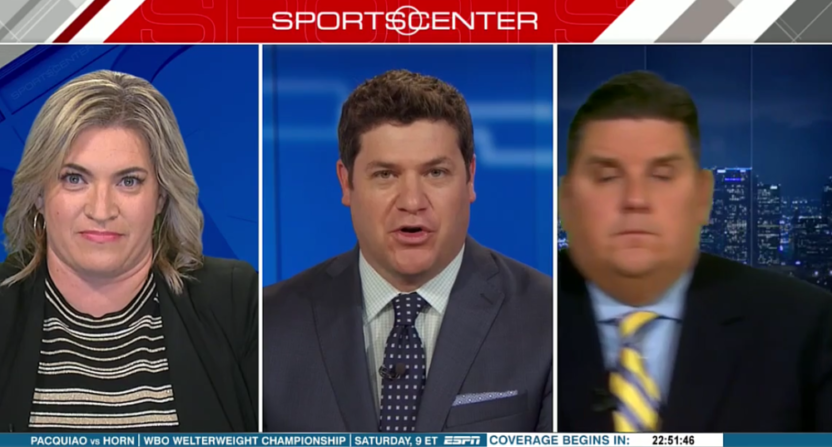 """ESPN's Brian Windhorst does """"The Electric Slide."""""""