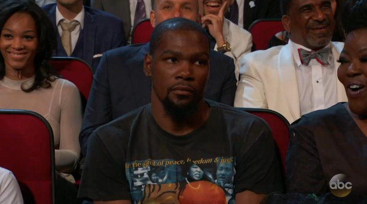 Kevin Durant at the 2017 ESPYs.