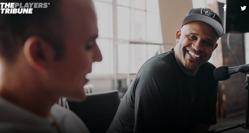 Ryan Ruocco (L) and CC Sabathia are doing a new podcast for The Players' Tribune.