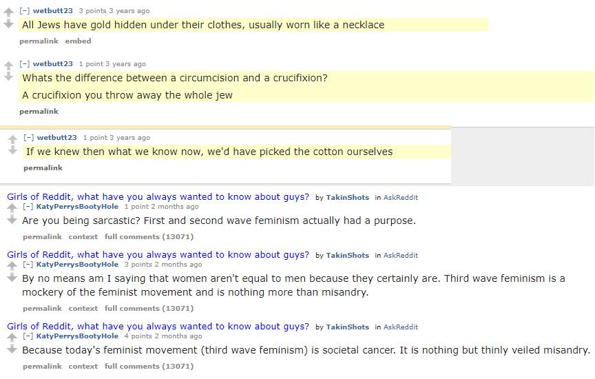 Reddit butts comments.