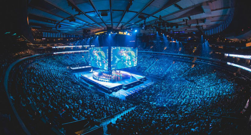 Nielsen wants to track audiences and more for esports events, such as these fall 2016 League of Legends semifinals at Madison Square Garden.