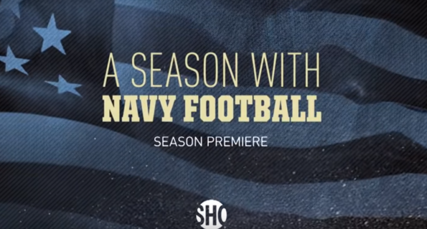 """Showtime's new """"A Season With"""" will focus on Navy."""