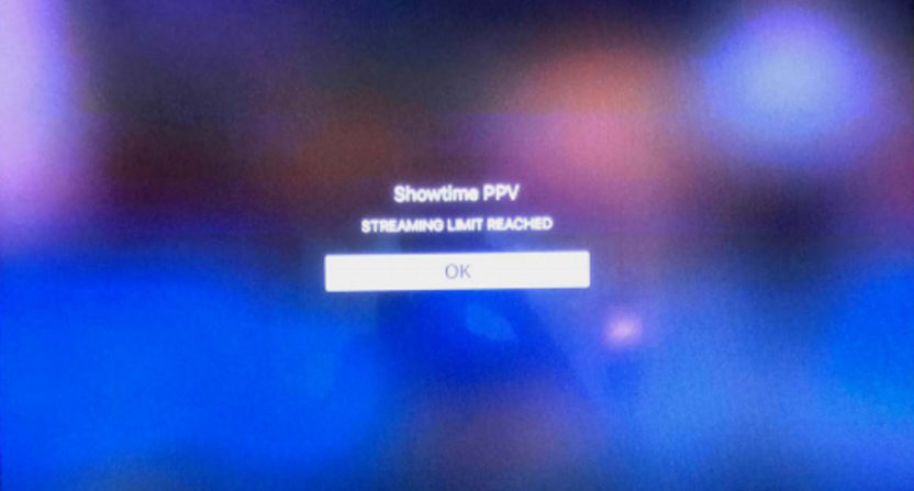This Showtime streaming error was displayed in a lawsuit filed against the company.
