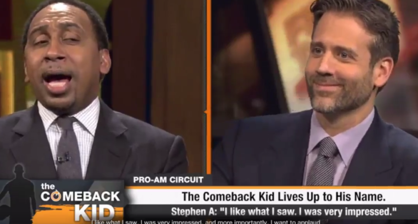 First Take's Stephen A. Smith and Max Kellerman appear in NBA Live '18.