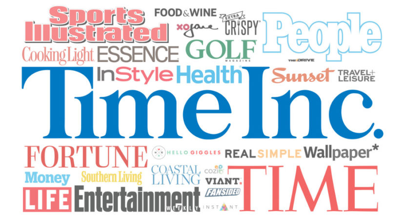 Time Inc. brands will be moving to the new Element platform.