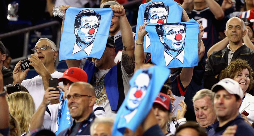 Tom Brady-signed Roger Goodell clown towel auctioned off for