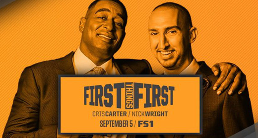 Nick Wright (R) and Cris Carter have their First Things First show launching Tuesday, Sept. 5.