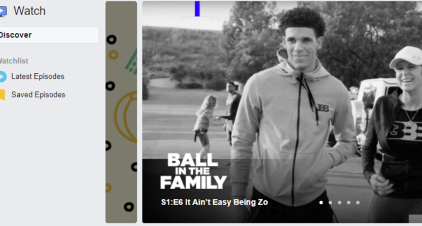 Ball In The Family is one of the sports shows on Facebook's Watch tab.
