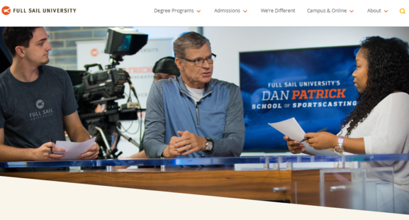 The Dan Patrick School of Sportscasting is set to launch at Florida's Full Sail University.