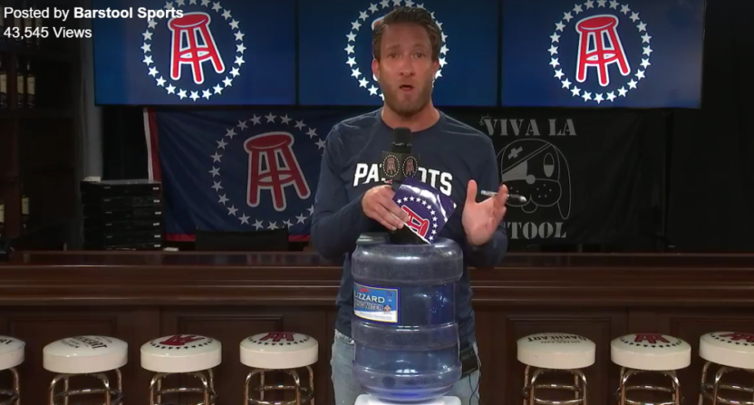 Barstool founder Dave Portnoy discussed the Barstool Van Talk cancellation.