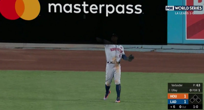 George Springer gets swallowed by a Masterpass ad.