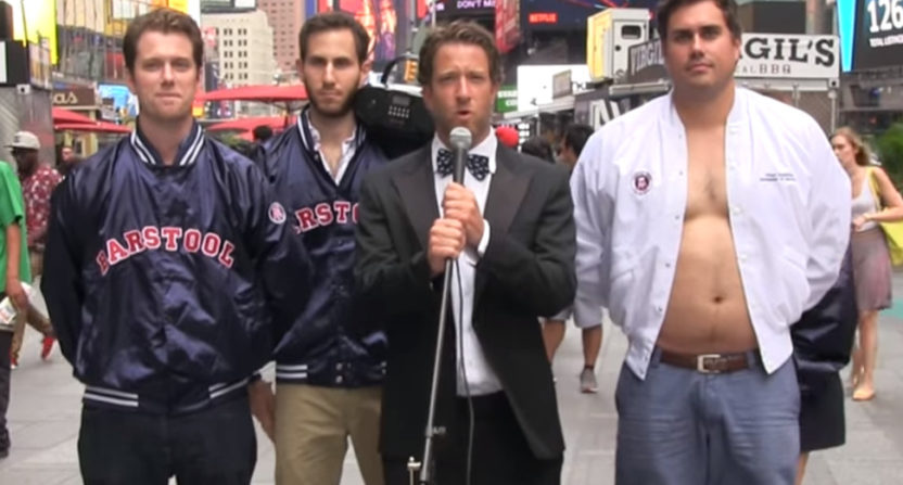 Barstool Sports announcing its CEO.