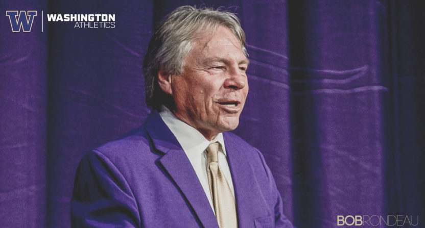 Bob Rondeau is retiring after 37 years calling Washington Huskies' football. (UW Athletics.)