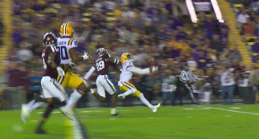 D.J. Chark Jr.'s catch against Texas A&M was one of his best.