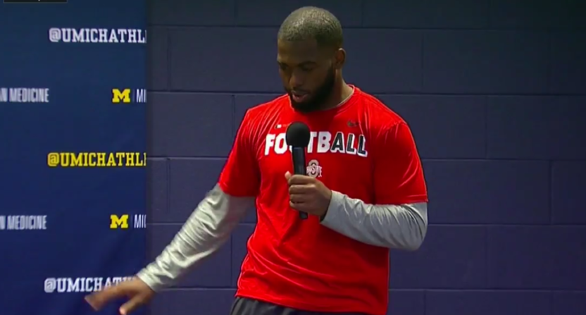 J.T. Barrett talks about how he got hurt.