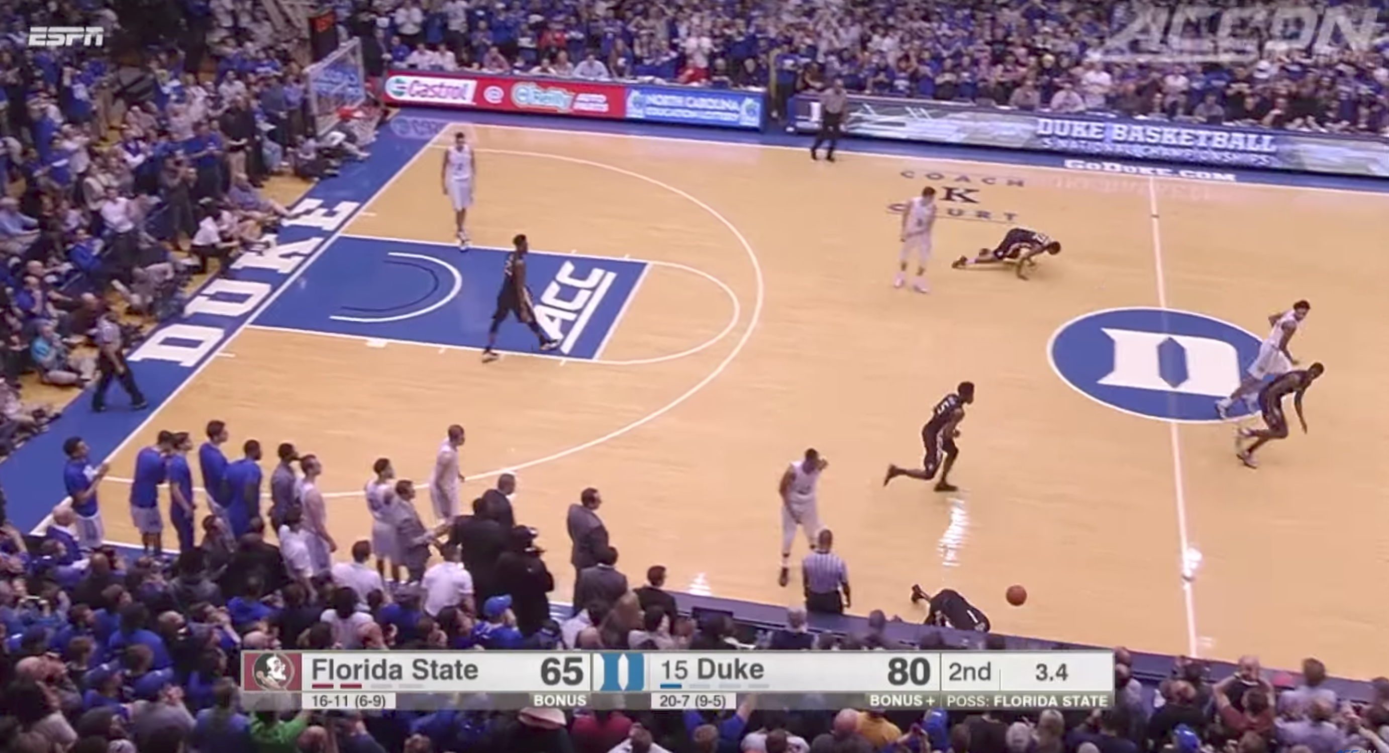 Espn S New College Basketball Scorebug Is Not Going Over Well