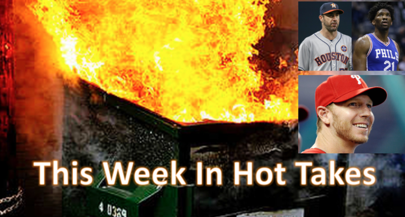 The hottest takes this week centered on Roy Halladay, Justin Verlander and Joel Embiid.