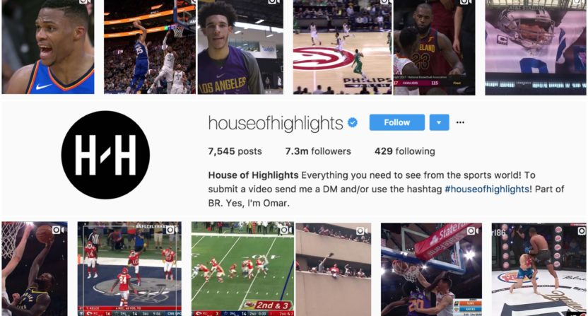 9fd067d6e20 How Bleacher Report and House of Highlights teamed up to take over Instagram