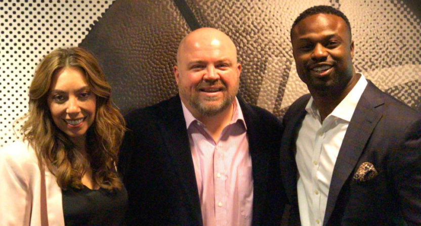 Maggie Gray, Chris Carlin and Bart Scott.