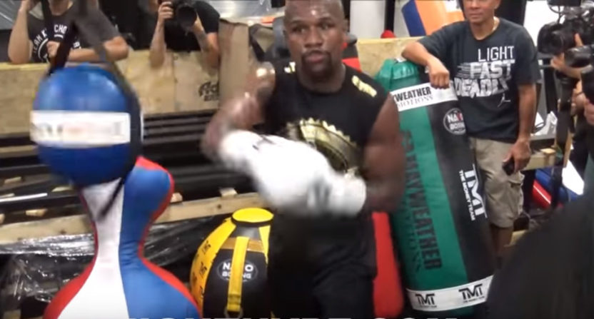 Floyd Mayweather training.