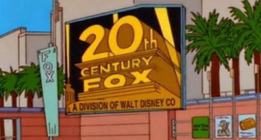 As predicted by The Simpsons in 1998, Disney has bought much of Fox.