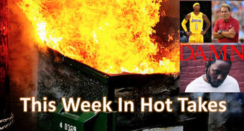 Phil Mushnick's hot take on Kendrick Lamar led the week of Dec. 22-28..
