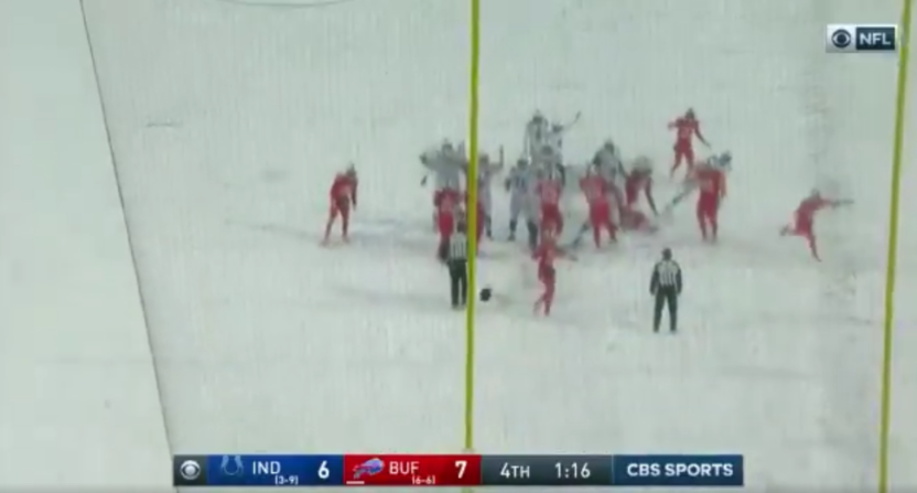 Adam Vinatieri's extra point in the snow was part of a remarkable CBS broadcast.