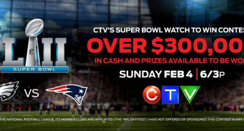 CTV's Super Bowl contest promo.