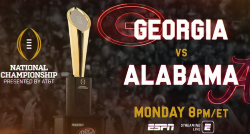 ESPN's 2018 national championship graphic.