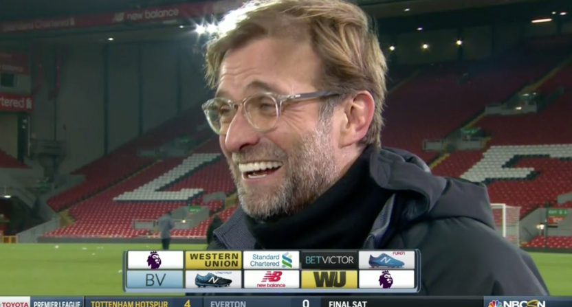 dc04792fb Liverpool manager Jurgen Klopp curses in postgame interview, says 'I ...