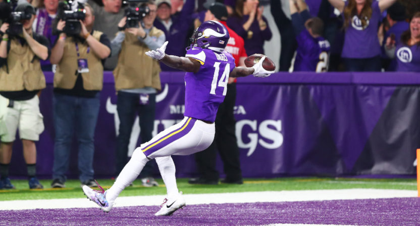 The Vikings' Stefon Diggs came up with this game-winning TD.