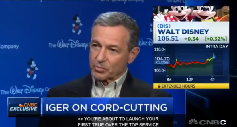 Bob Iger on CNBC, Feb. 6, 2018.