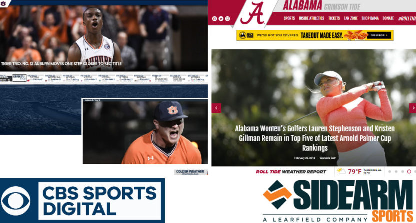 CBS Sports and Sidearm team up.