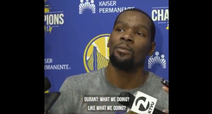 This Kevin Durant interview almost led to blows.