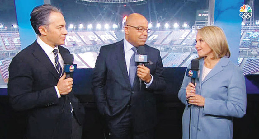 The NBC opening ceremonies with Joshua Cooper Ramo, Mike Tirico and Katie Couric.