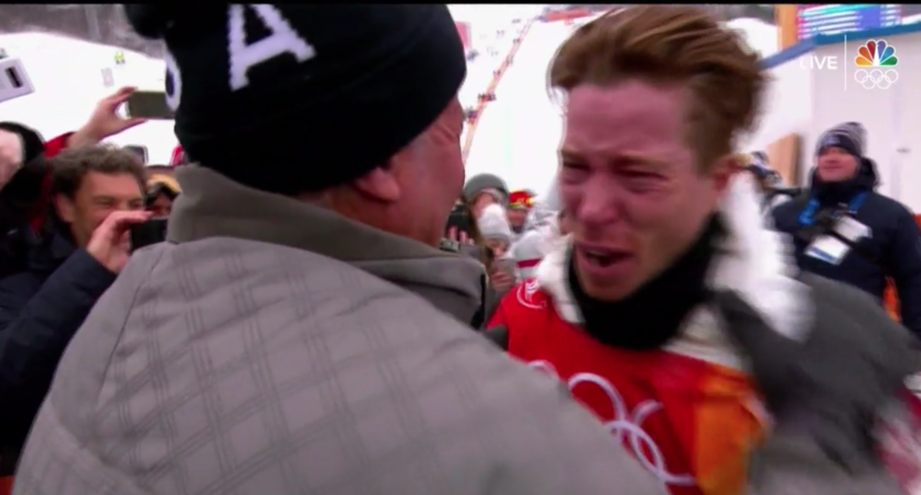 Shaun White continues Olympic tradition of swearing on live TV while  winning gold medals 845e728efe7