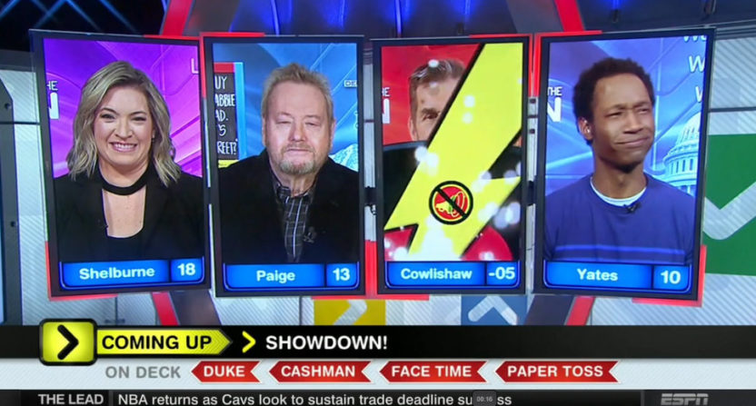Tim Cowlishaw lost points for discussing Around The Horn tanking.
