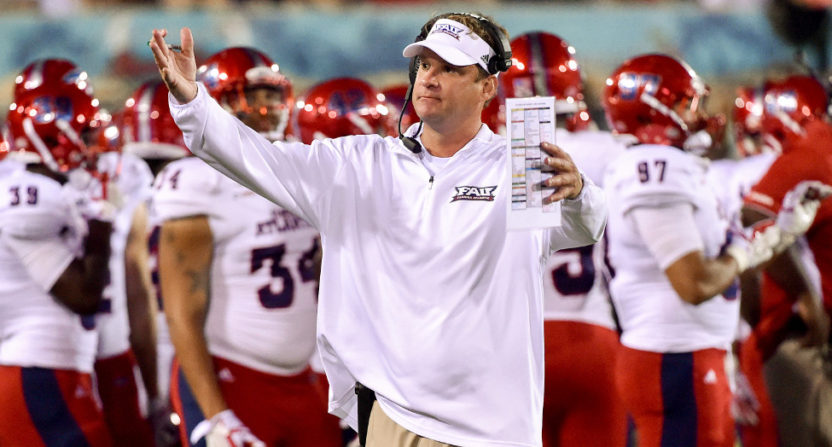 Lane Kiffin in the Boca Raton Bowl.
