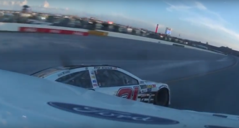 An in-car NASCAR/Twitter stream.