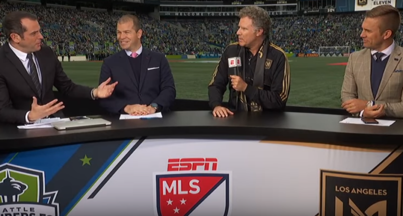 Will Ferrell joins the ESPN FC set.