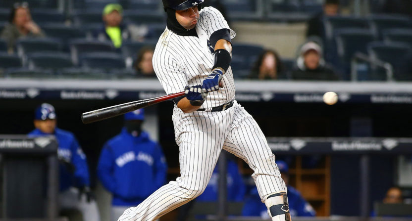 giancarlo stanton-john sterling-new york yankees