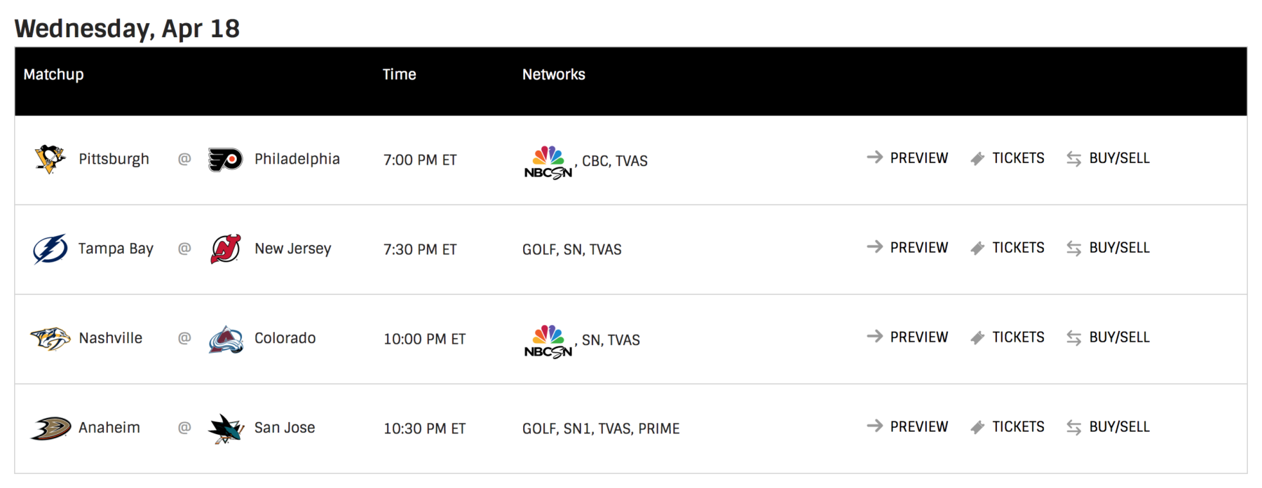 Multiple NHL playoff games will air on Golf Channel, for