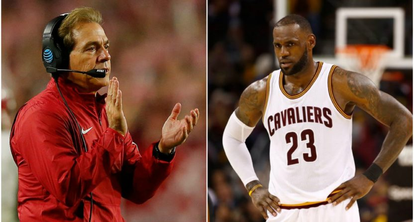 lebron james-nick saban-alabama-interrupted