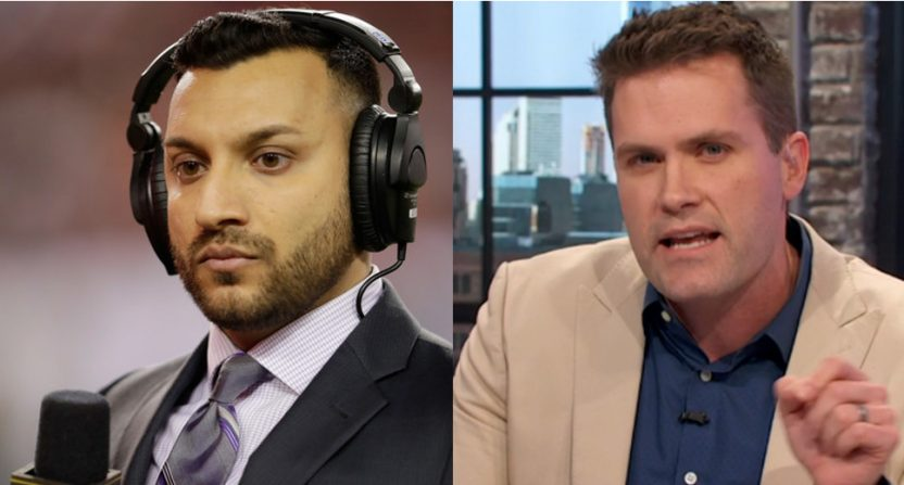Adam Amin (L) and Kyle Brandt will call Bears' preseason games this year.