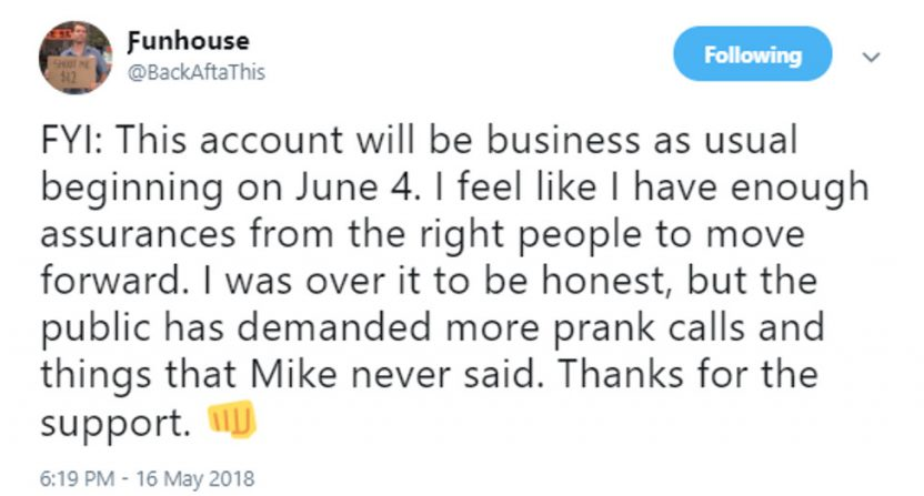 Funhouse is returning to posting Mike Francesa clips.
