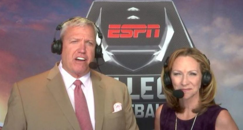 Rex Ryan with Beth Mowins.