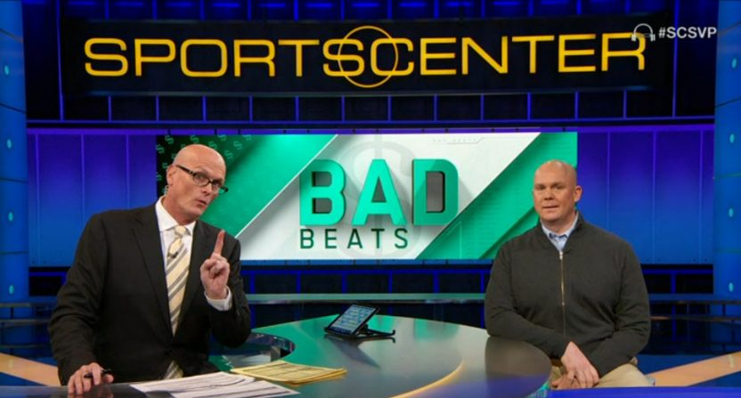 Scott Van Pelt on gambling segment Bad Beats.