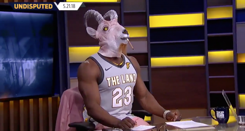 hot sale online b0bbe b50ad Shannon Sharpe dressed as